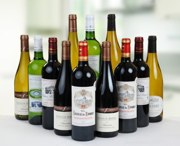 12 Bottle Case of Mixed French Wines