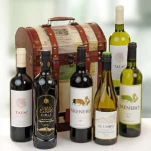 6 Bottle Wine Treasure Chest Gift