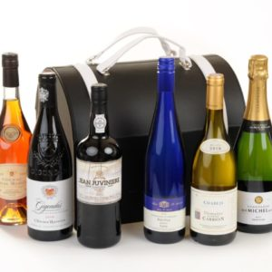 6 Bottle Premium Leather Wine Bag