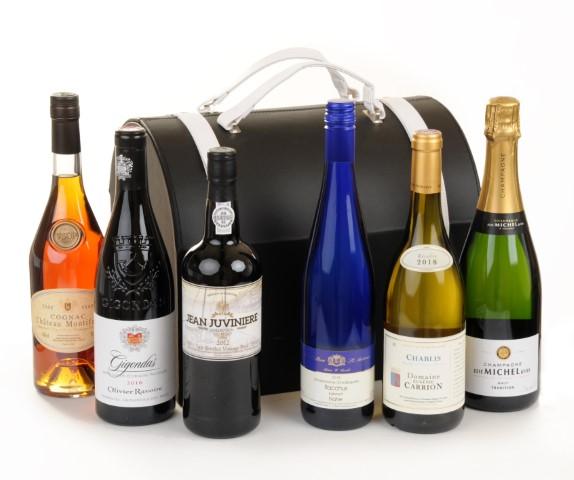 6 Bottle Premium Leather Wine Bag