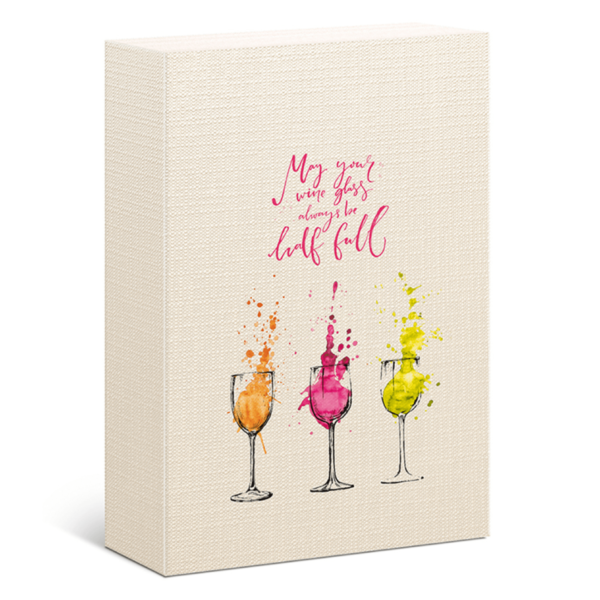 triple card wine gift box