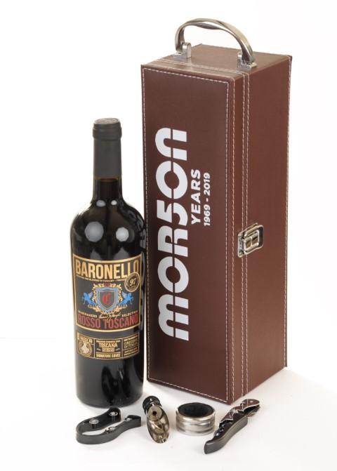 Single Leather Wine Box With Company Logo